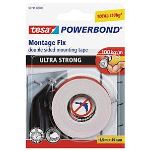 tesa® Powerbond® ultra résistant double face rouleau de fixation blanc 19mmx1,5m 55791