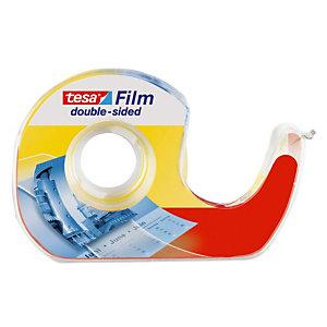 tesa® Rouleau double-face transparent tesafilm® 12mmx7,5m avec dévidoir manuel 57912
