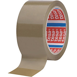 tesa® Ruban adhésif d'emballage tesapack polypropylène 46 microns - 50mmx66m - Havane