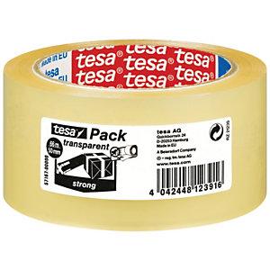 tesa® Ruban adhésif d'emballage tesapack polypropylène silencieux 28 microns - 50mmx66m - Transparent