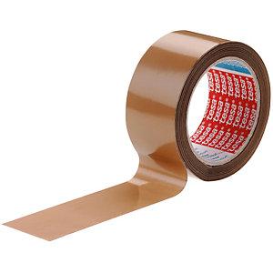 tesa® Ruban adhésif d'emballage tesapack PVC silencieux - 32 microns - 50mmx100m - Havane