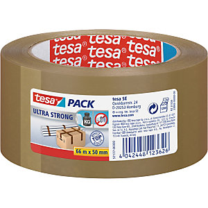 tesa® Ruban adhésif d'emballage tesapack PVC silencieux Ultra Strong 32 microns - 50mmx66m - Havane