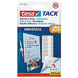tesa® TACK® Masilla adhesiva moldeable, blanco, 80 pastillas