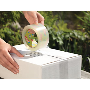 tesa® tesapack ecoLogo, Cinta de Embalar Polipropileno Fuerte Desenrrollado silencioso Alta resistencia a los rayos UV, 50 mm x 66 m