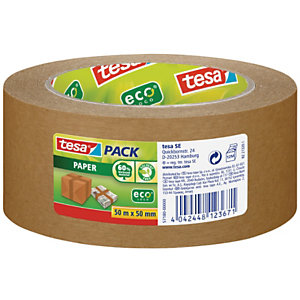 tesa® Tesapack Paper Nastro da imballo in carta, 50 mm x 50 m, Avana
