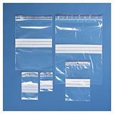 Testpakket transparante gripzakjes met witte stroken 100 micron