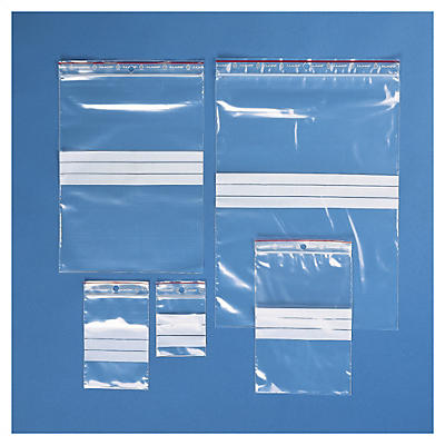 Testpakket transparante gripzakjes Rajagrip met schrijfstroken