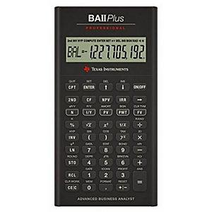 Texas Instruments, Calcolatrici, Ba ii plus professional, BAIIPLUSPROF