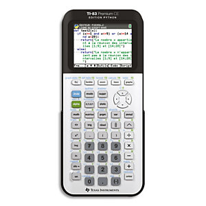 TEXAS INSTRUMENTS Calculatrice graphique TI-83 Premium CE Edition Python 83PREP/TBL/1E2