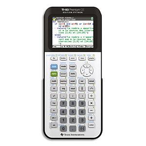 TEXAS INSTRUMENTS Calculatrice graphique TI83 Premium CE Edition Python 83PREP/TBL/1E2
