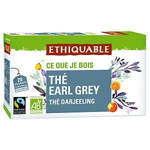 Thé Earl Grey Equitable et Bio, 2 boîtes de 20 infusettes