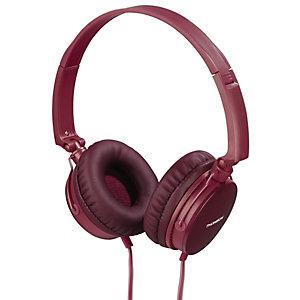 THOMSON HED2207RD Auriculares de diadema con cable, 1,2 m, rojo