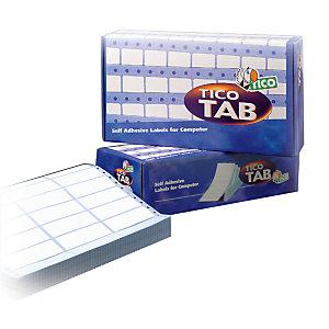 TICO Etichette a modulo continuo, Corsia singola, 89 x 36,2 mm, 500 fogli, 8 etichette per foglio, Bianco