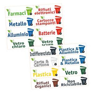 TICO Etichette per la raccolta differenziata, PVC, 120 x 45 mm