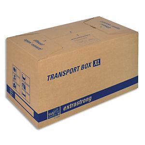 TIDYPAC Carton de déménagement double cannelure format XL - Dimensions : L68 x H35 x P35,5 cm brun