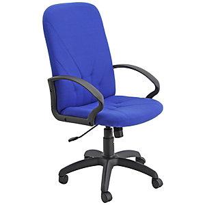 Time Sillón de dirección, textil, altura 106 -118 cm, azul