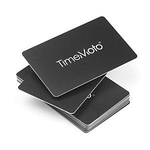 TIMEMOTO Badge RFID, compatible avec tous les systèmes de pointage TimeMoto®, 85 x 54 mm, distance de lecture de 70 mm, noir (paquet 25 unités)
