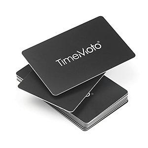 TimeMoto Tarjeta de identificación por radiofrecuencia, compatible con todos los sistemas TimeMoto®, 85 x 54 mm, 70 mm de distancia de lectura, negro