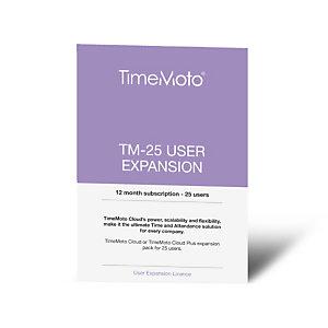 TimeMoto TM-25 Licencia de expansión de 25 usuarios durante 1 año