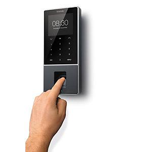 TimeMoto TM-828 Controlador de presencia, 2000 usuarios, 100.000 registros de tiempo, identificación por radiofrecuencia, huella dactilar, clave