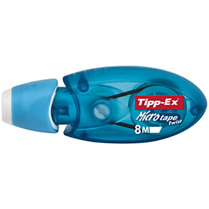 Tipp-Ex Roller de correction Micro Tape Twist 5mm x 8m Bleu translucide