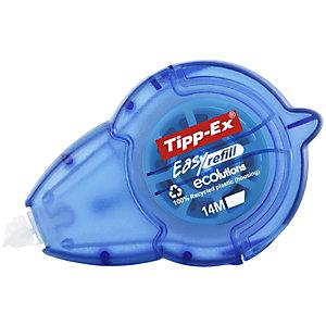 Tipp-Ex Roller de correction rechargeable Easy Refill Ecolutions 5mm x 14m Bleu translucide - Pack de 15 + 5 OFFERTS