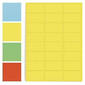Étiquette adhésive amovible couleur planche A4