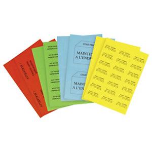 Étiquette adhésive permanente couleur planche A4