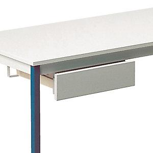 Tiroir adaptable pour tables universelles, coloris gris