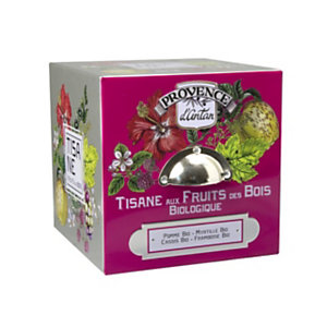 Tisana Biologica Frutti di Bosco Araquelle Provence d'Antan , 24 filtri in scatola di metallo