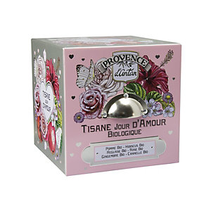 Tisana Biologica Giorni d'Amore Araquelle Provence d'Antan, 24 filtri in scatola di metallo
