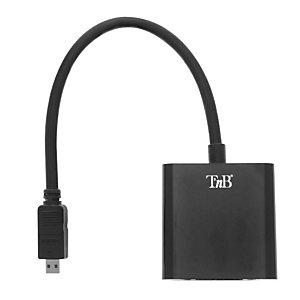 TNB Adattatore Micro HDMI / VGA, Nero