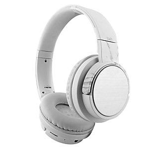 TNB Cuffia Shine Bluetooth, 4  funzioni (Bluetooth, Cablato, Lettore di schede SD, Radio FM), Bianco