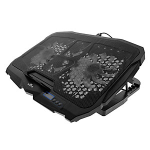 "TNB Supporto ventilato con LED Elyte Artic, Per notebook fino a 17"", Nero"