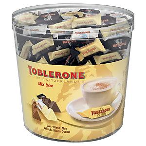 Toblerone Boîte de 113 Mini 8g - Tiny Lait / Blanc / Noir