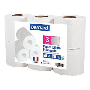 Toiletpapier Bernard 3 lagen, 6 rollen