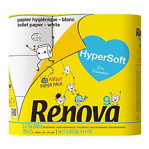 Toiletpapier Renova Hypersoft, doos van 9 rollen