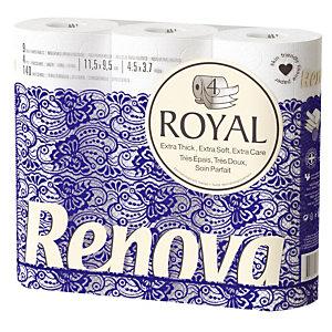 Toiletpapier Renova Royal, 9 rollen
