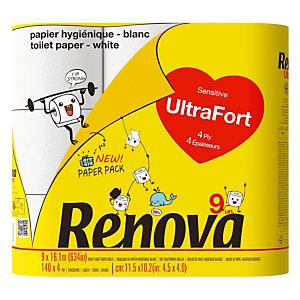 Toiletpapier Renova Ultrafort, doos van 9 rollen
