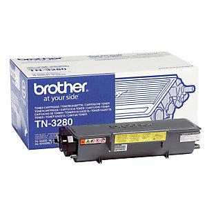 Toner Brother TN 3280 noir pour imprimantes laser