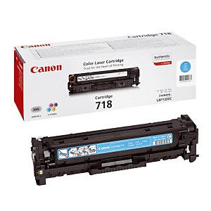 Toner Canon 718 cyan pour imprimantes laser