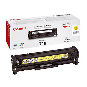 Toner Canon 718 jaune pour imprimantes laser