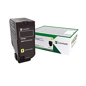 Toner cartridge Lexmark 75B20Y0 gele kleur
