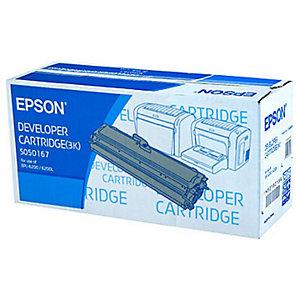 Toner Epson n°S050167 zwart voor laser printers