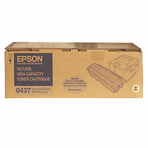 Toner Epson n°S050437 zwart hoge capaciteit voor laser printers