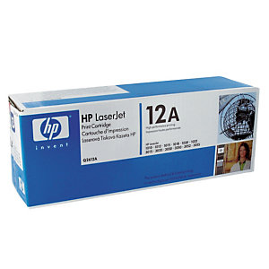 Toner HP 12A noir pour imprimantes laser