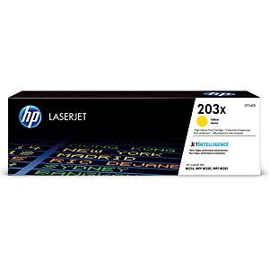 Toner HP 203 X geel voor laser printers