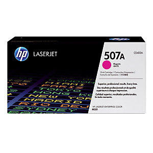 Toner HP 507A magenta pour imprimantes laser