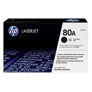 Toner HP 80A noir pour imprimantes laser