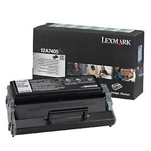 Toner Lexmark n°12A7405 zwart voor laser printers
